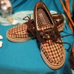 Sperry plaid topsiders